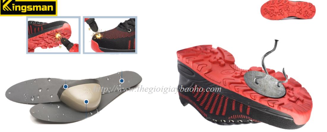 Giày Bảo Hộ Kingsman Runner đỏ